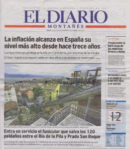 Entra en servicio el funicular que salva los 120 peldaños entre el Río de la Pila y Prado San Roque_Diario_12072014