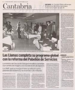Las Llamas completa programa global con reforma Pab Servicios_Diario_ 10092002