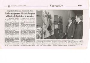 Piñeiro inaugura en el BºPesquero el Centro de Iniciativas Artesanales(15112002)Alerta